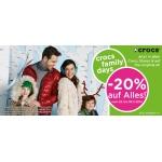 Crocs Family Days: – 20% auf das gesamte Sortiment