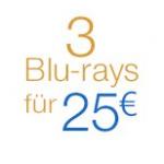 Filmschnäppchen bei Amazon – z.B. 3 Blu-rays um 25€