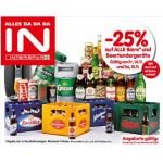 Interspar: 1+1 und viele % – Aktionen wie z.B. -25% auf alle Biere
