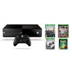 Xbox One inkl. Controller mit GTA V + Assassin's Creed: Unity + Assassin's Creed IV: Black Flag + Rayman Legends um 404,39€