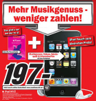 iPod touch 8GB (4G) + 25€ iTunes Gutschein um 197€ @Media Markt