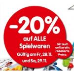-20% auf alle Spielwaren am 28.11. und 29.11. bei Interspar
