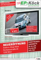 Elektro Shop Köck 1230 Wien Neueröffnung / Angebote in allen Filian gültig bis 22.6.2011