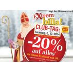 -20% auf Alles am 6.12.2014 und -25% auf alle Limonaden am 9.12.2014