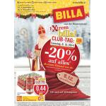 Neue Sortimentsaktionen (z.B.: -20% auf alles bei Billa am 6.12.2014)