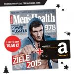 Men's Health: 3 Ausgaben + 10€ Amazon.de Gutschein um 12€