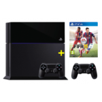 Sony Playstation 4 + Fifa 15 + 2 Controller um 429€