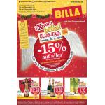 Neue Sortimentsaktionen (z.B.: -15% auf alles bei Billa am 20.12.2014)