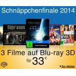 Schnäppchenfinale 2014 – z.B.: 3x 3D Blu-rays inkl. Versand um 33€
