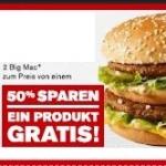 50% Rabatt bei McDonald's! (6er, Big Mac, Menü)