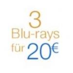 DVD und Blu-ray Aktionen bei Amazon wie z.B. 3 Blu-rays um 20€