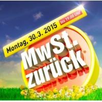 MwSt zurück bei Baumax am 30. März 2015 (in Form von Gutscheinen)