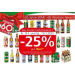 -25% auf Bier und 1+1 Aktionen bei Eurospar von 7. – 14.1.2015
