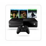 Xbox One + Mittelerde: Mordors Schatten + Hobbit 1&2 Blu-ray um 399€