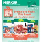 Merkur: -25 % auf 3 Warengruppen (z.B. Wasch-, Putz- & Reinigungsmittel) sowie 1+1 kostenlos (z.B.: Nutella 450g)