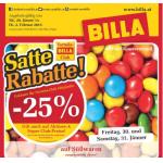 Satte Rabatte & eXtrem Billa Angebote (1+1 Gratis) bis 3. Februar 2015