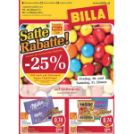 Neue Sortimentsaktionen (z.B.: -25% auf alle Süßwaren bei Billa)