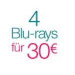 4 Blu-rays um 30€ od. 4 DVDs um 20€ und mehr auf Amazon