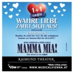 "Valentinsaktion – Raimund Theater: ""Mamma Mia!""-Karten 1+1 Gratis"