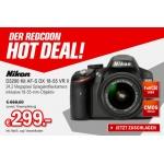 Redcoon: Nikon D3200 Kit AF-S DX 18-55 VR II um 306,99 € inkl. Versand