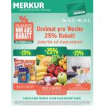 Neue Sortimentsaktionen (z.B.: -25% auf Obst und Gemüse bei Merkur)