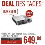 NBB.de: BenQ W1070+ FullHD 3D DLP Beamer um 659,99 € inkl. Versand