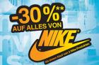 -30% auf alles von Nike (ab einem Kauf von 3 Nike-Produkten) @Hervis