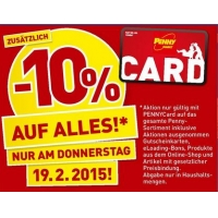 -10% bei Penny am 19.2. auf (fast) ALLES
