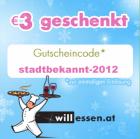 3€ Rabatt auf eine beliebige Bestellung @willessen.at