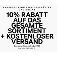 H&M Onlienshop: 10 % Rabatt & kostenlosen Versand