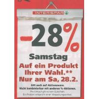 Interspar: -28% Rabatt auf ein Produkt eurer Wahl am 28. Februar 2015