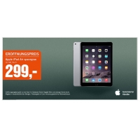 Cyberport Eröffnungsangebote im Shopping Center City Gate – zB: Apple iPad Air WiFi 16GB Space Gray um 299 €