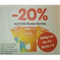 Interspar: 25 € iTunes-Karten um 20 € von 5.-7.3.2015