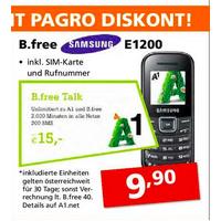 Pagro: Samsung E1200 inkl. B.free Simkarte um 9,90 €
