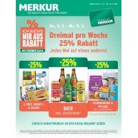 Merkur: -25% auf 3 Warengruppen vom 5.- 11.3.2014 – z.B.: -25% auf das gesamte Biersortiment inkl. Beertender