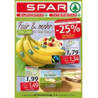 Neue Sortimentsaktionen (z.B.: -25% auf alle Spar Natur Pur Bio-Produkte)
