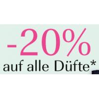 Douglas.at: 20% Rabatt auf alle Düfte (über 2500) bis 15.3.2015