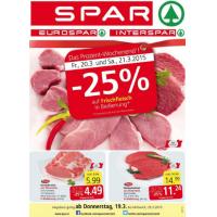 Neue Sortimentsaktionen (z.B.: -25% auf Frischfleisch bei Spar)