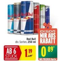 Merkur: -25% auf 3 Warengruppen bis 25.3. – z.B.: -25 % auf alkoholfreie Getränke – Red Bull um 0,89 €