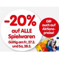 -20% auf alle Spielwaren am 27. und 28.3.2015 bei Interspar