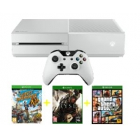 Saturn-Tagesdeals – zB.: Microsoft Xbox One Bundle 500 GB in weiß inkl. Sunset Overdrive (DLC) + Ryse – Son of Rome + GTA V um 311 €
