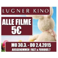 Lugner-Kino-City: (Fast) Alle Filme um 5 € bis 2.4.2015