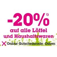 Mömax Onlineshop: 20% Rabatt auf alle Löffel und Haushaltswaren