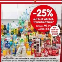 Interspar: -25 % auf alle alkoholfreien Getränke am 1. und 2.4.2015
