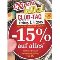 Billa: Super Oster Bons vom 2.-4.4. bzw. -15% Rabatt am 3.4.2015