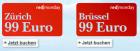 Um 99€ nach Brüssel oder Zürich @Austrian redmonday