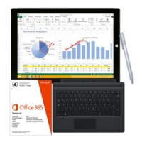 Microsoft Surface Pro 3 128GB 12″ Tablet + Type Cover 3 + Stylus + Office inkl. Versand um 906,99€