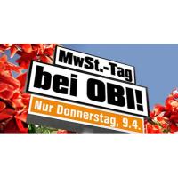 Keine Mehrwertsteuer bei OBI (inkl. Online-Shop) – nur am 09.04.2015
