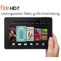 Fire HD 7″ Tablet in allen Version mit 40€ Rabatt bis 13. April 2015!