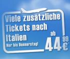 Zusätzliche Tickets nach Italien (Rom, Mailand, Olbia) ab 44,99 € bis Do. 23.6.2011 @AirBerlin